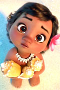 Baby Moana is the cutest ever.