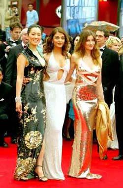 triple threat: Gong Li, Aishwarya Rai, Laetitia Casta