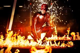 We knew Daredevil was flaming just by the outfit. This is overkill.