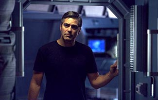Clooney tries to figure out what this movie is all about.