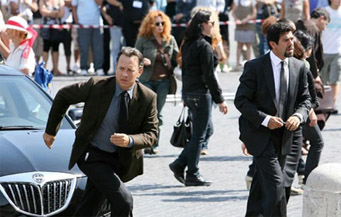 Tom Hanks tried to flee from the set several times but security kept bringing him back.