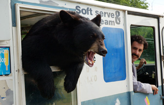 Sacha Baron Cohen hired a bear when threats of lawsuits became apparent.
