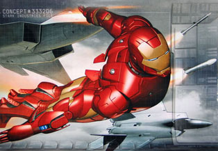 The suitcase armor in Iron Man 2's trailer is bad-ass.