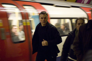 Bourne is so kinetic, everything around him is blurry.
