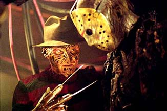 In happier times, Freddy gives Jason some dating tips.