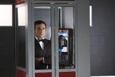 Michael Scott refuses to leave what he believes is the Tardis.