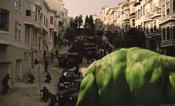 Ever notice how frequently the publicity pictures show Hulk's back instead of his face?