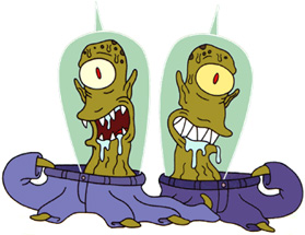 Kang and Kodos are always so trendy.