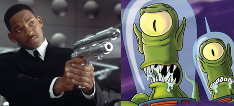 Kang and Kodos have many enemies this month.