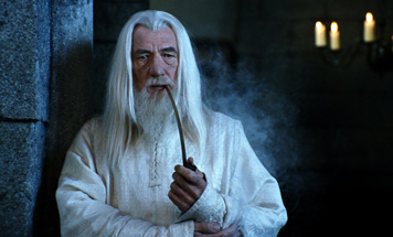 We may never know the wacky tobacky that Gandalf was smoking.