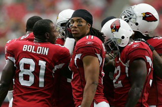 Even Larry Fitzgerald can't believe most of BOP is predicting a Cardinals win.
