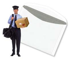 Ranking number two on the list of a postman's greatest fears is the giant, carnivorous envelope.