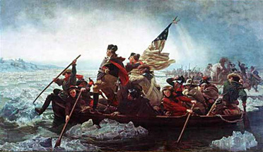 The water was considerably choppier on Washington's journey.