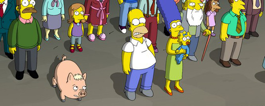 Homer has finally found a pet that can give him all he desires - bacon, pork chops...