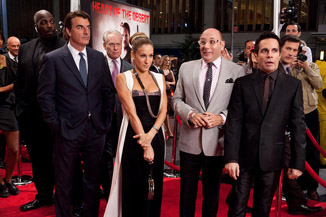 The red carpet on an opening night for a movie this awful is always awkward.