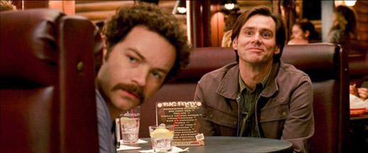 Carrey is thrilled to be sititng with Hyde from That 70s Show.