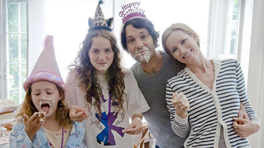 One of the Apatow daughters looks like Drew Barrymore. The other looks like a witch.