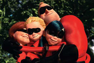 The family that hugs together destroys Incrediboy together.