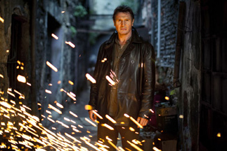 This is what he'll do to your home if you do not see Taken 2 this weekend.