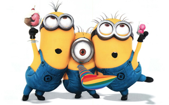 The minions celebrate ruling the world.