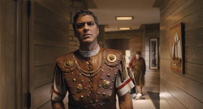 You know, I'm not sure why I'm wearing the Caesar outfit...