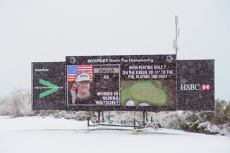 Wussy golfers should play through the snow.
