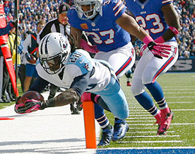 Chris Johnson, meet the end zone, something you find less often than the little man in the boat.