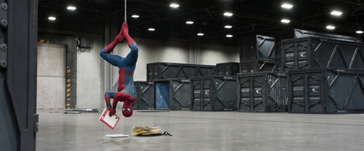 How Spider-Man relaxes.