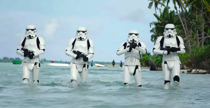 Sometimes a Stormtrooper just wants to go for a little swim.