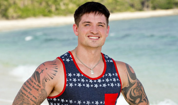 At least he has that awesome American flag tank top.