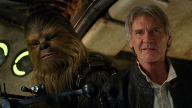 As we say goodbye to Star Wars at #1 in its final week, we'll just put Chewie and Han right here.