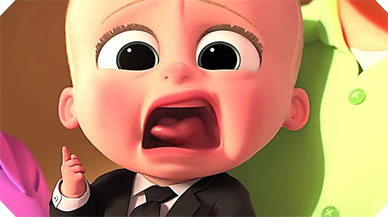 The only good boss baby is one with this face.