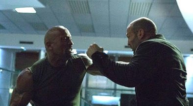 No, *I'm* the best bald action hero!