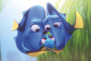 The best little detail about Finding Dory is that her dad is drawn like a bald dude.