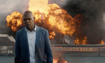 Samuel L. Jackson leaves the remnants of a smoldering box office behind him.