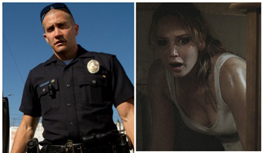 Maybe cop Jake Gyllenhaal can save scared Jennifer Lawrence.